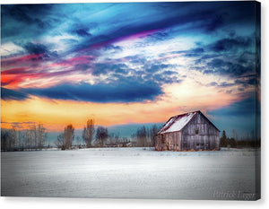Water Color Barn - Canvas Print