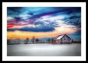 Water Color Barn - Framed Print