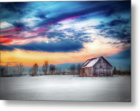 Water Color Barn - Metal Print