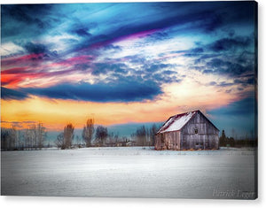 Water Color Barn - Acrylic Print