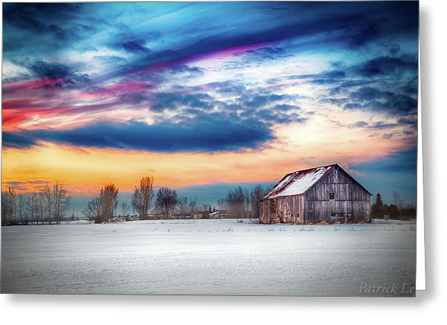 Water Color Barn - Greeting Card