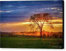 Load image into Gallery viewer, Dusty Tractor Sunset - Canvas Print