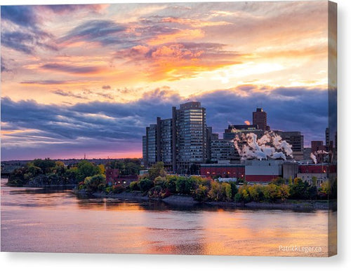 Portage Fall Sunset Colors - Canvas Print