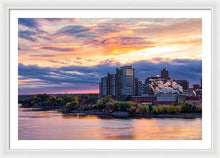 Load image into Gallery viewer, Portage Fall Sunset Colors - Framed Print