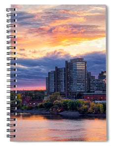 Portage Fall Sunset Colors - Spiral Notebook