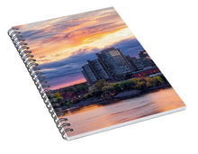 Load image into Gallery viewer, Portage Fall Sunset Colors - Spiral Notebook