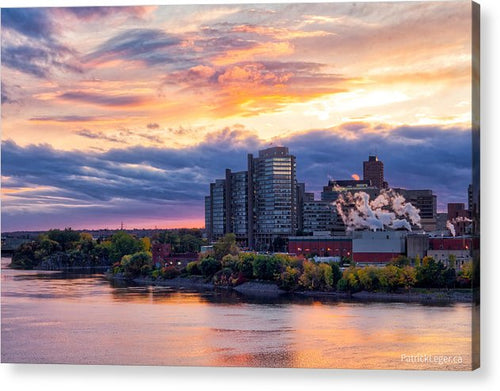 Portage Fall Sunset Colors - Acrylic Print