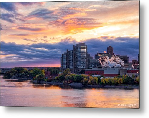 Portage Fall Sunset Colors - Metal Print