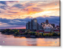 Load image into Gallery viewer, Portage Fall Sunset Colors - Acrylic Print