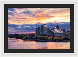 Portage Fall Sunset Colors - Framed Print
