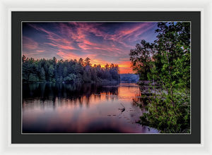 Purple Pass - Framed Print