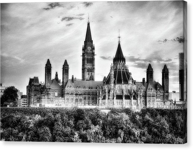 The Canadian Parliament - Canvas Print