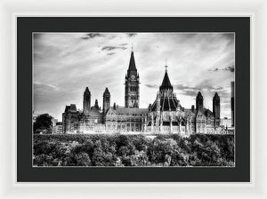 The Canadian Parliament - Framed Print