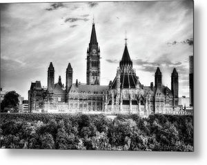 The Canadian Parliament - Metal Print