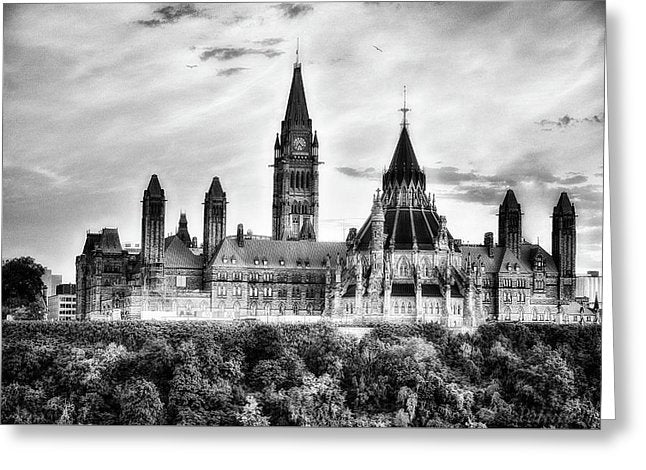 The Canadian Parliament - Greeting Card