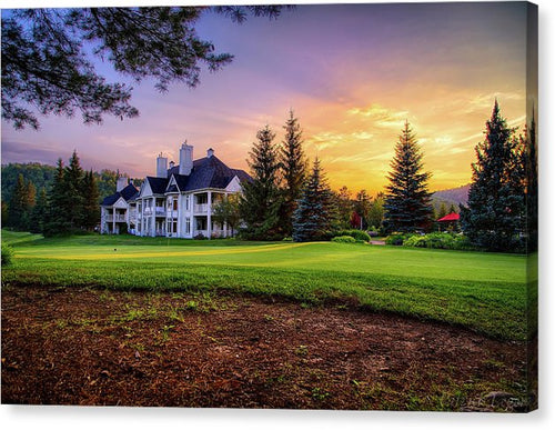 Tremblant Clubhouse - Canvas Print