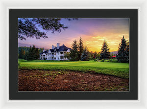 Tremblant Clubhouse - Framed Print