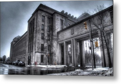 West Memorial Building - Metal Print