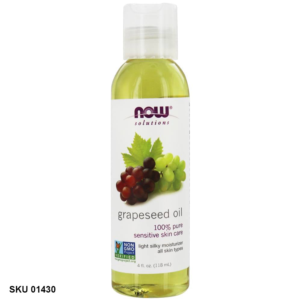 Now Foods, Solutions, huile de pépins de raisin (118 ml)
