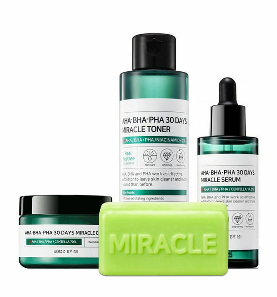 Some By Mi, AHA.BHA.PHA, 30 Days Miracle Full size kit, 4 pièces