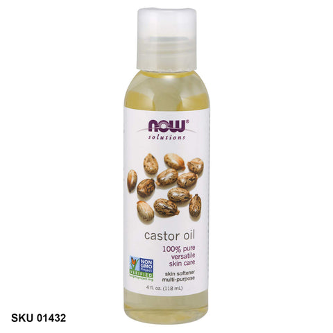 Now Foods, Solutions, huile de ricin (118 ml)
