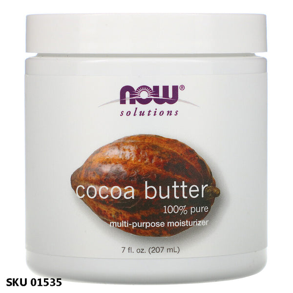 Now Foods, Solutions, Beurre de cacao (207 ml)