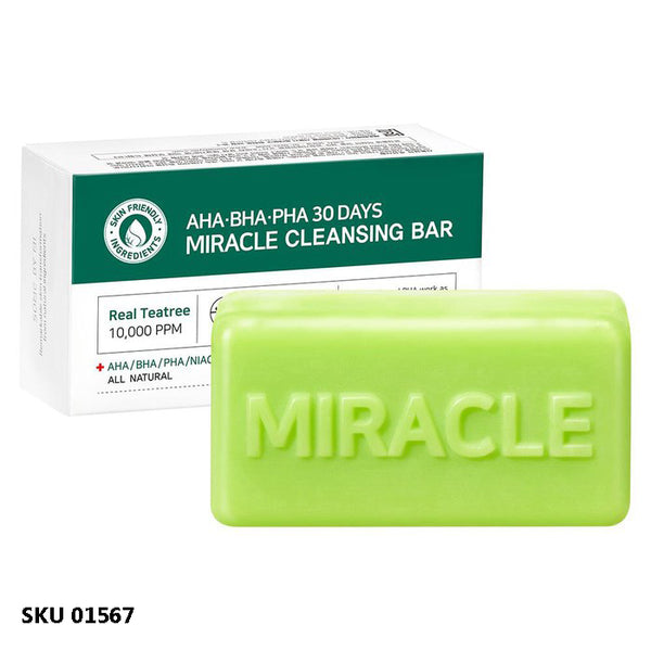 Some By Mi, AHA, BHA, PHA savon nettoyant 30 days miracle, 106g