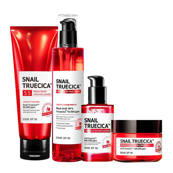 Some By Mi, Snail Truecica Miracle Repair Full size kit, 4 pièces