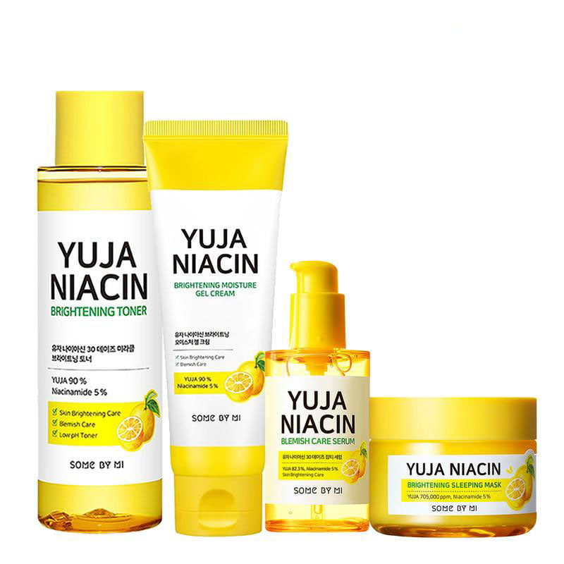 Some By Mi, Yuja Niacin 30 days miracle brightening Full size kit, 4 pièces