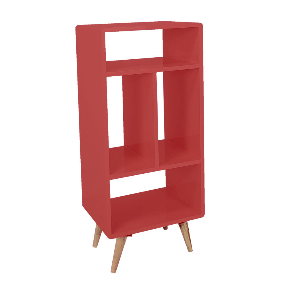 Coral Geometric Display Cabinet Shelf - For Rent