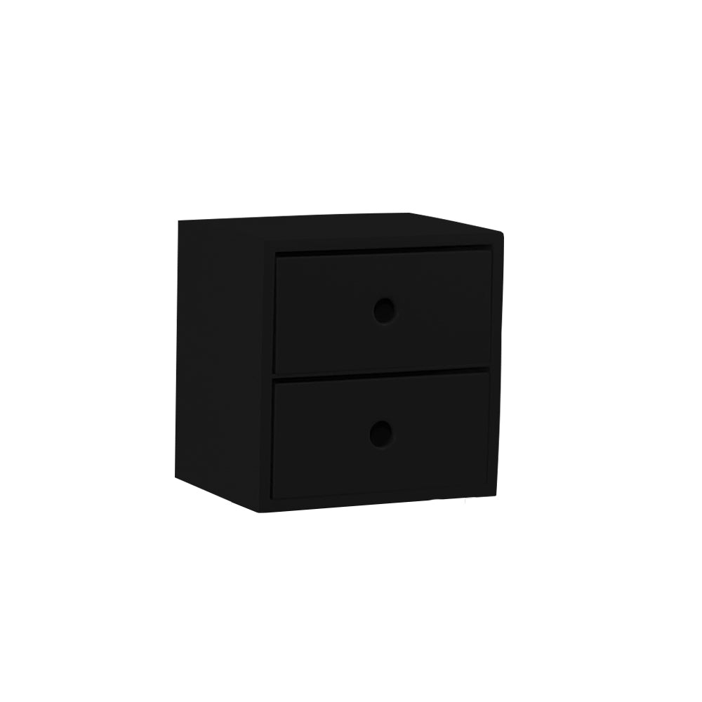 2 Drawer Black Accent Tabletop Display Riser