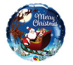 Merry Christmas Round Balloon