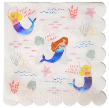 Let's Be Mermaids Napkins (Large)