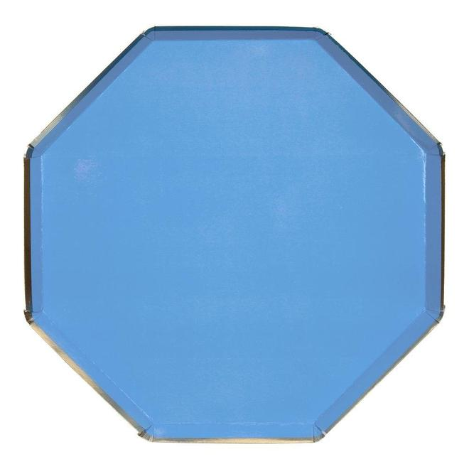 Bright Blue Dinner Plates (Large)