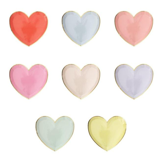 Party Palette Heart Plates (Large)