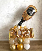 2021 Custom New Year Balloon Bouquet with Champagne Bottle