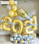Super Premium 2021 Custom New Year Balloon Bouquet with Design, 60in