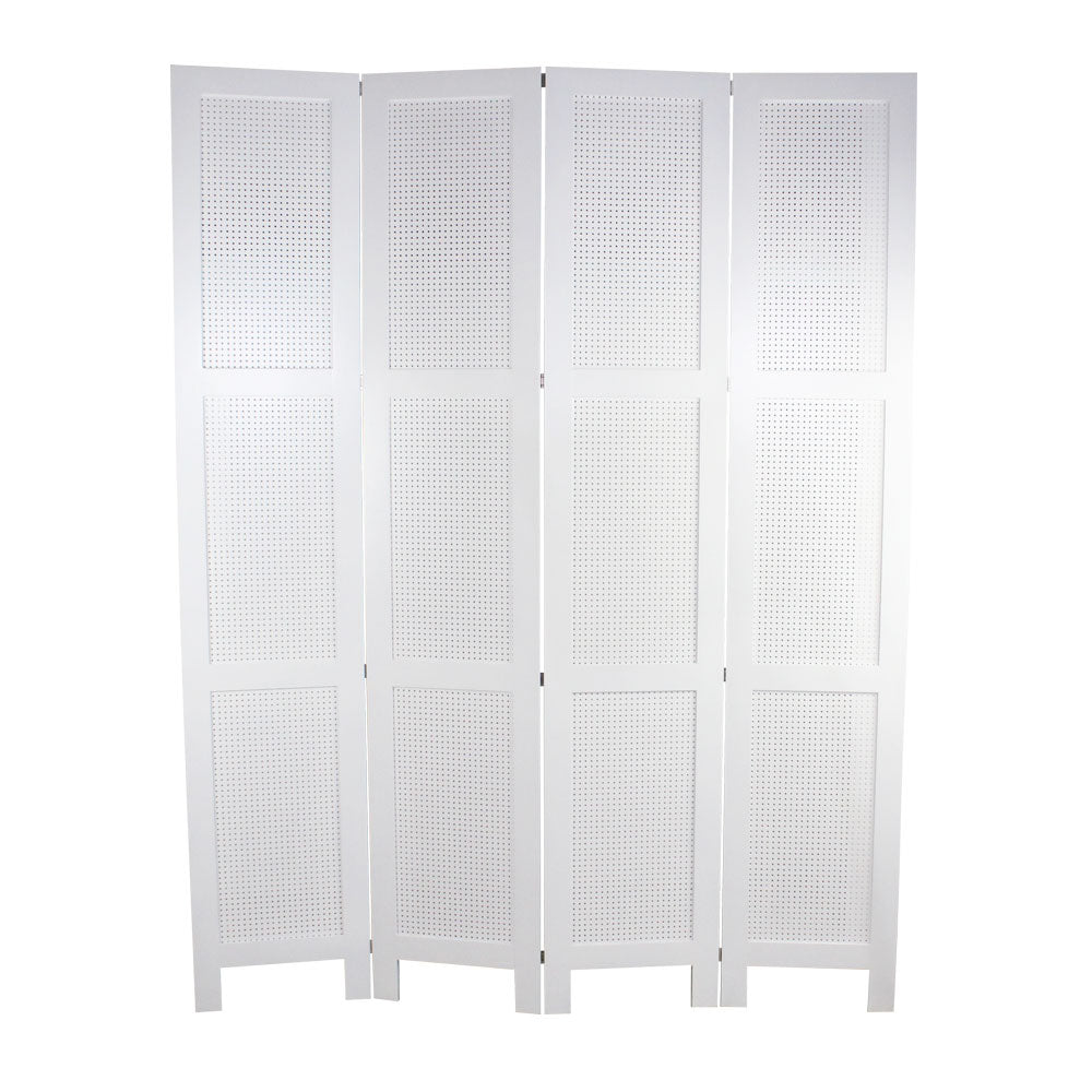White Wooden Folding Screen Backdrop - For Rent