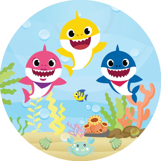 Baby Shark 7ft Fabric Backdrop - For Rent