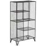 Black Mesh Metal Compartment Shelf - For Rent