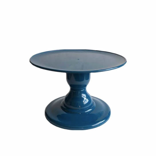 "Petroleum Blue Small Stand with 9"" Round Plate (135/220)"