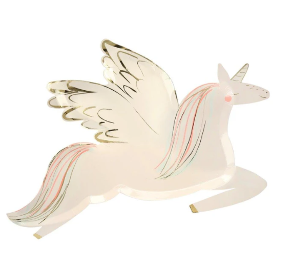 Winged Unicorn Plates