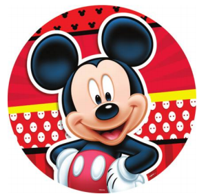 5 Ft Mickey Round Premium Fabric Backdrop Wall Easy Setup - FOR RENT