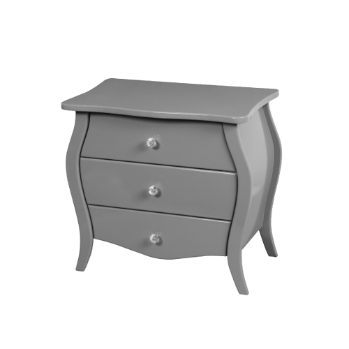 3 Drawer Dark Gray Accent Nightstand Display
