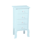Light Blue Accent 4 Drawer Chest Display