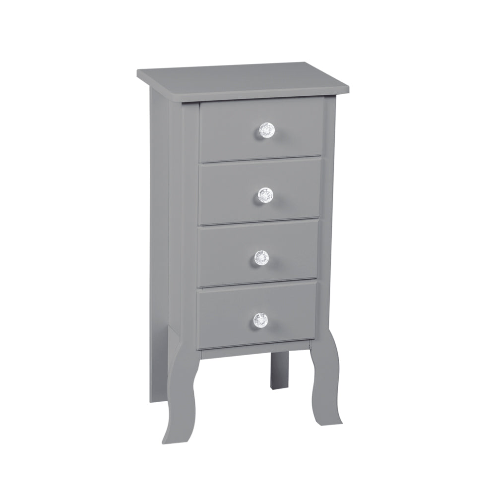 Dark Gray Accent 4 Drawer Chest Display