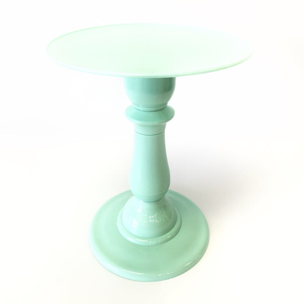 "Mint Green 9"" Round Plate Tall Cake Stand (270/220)"