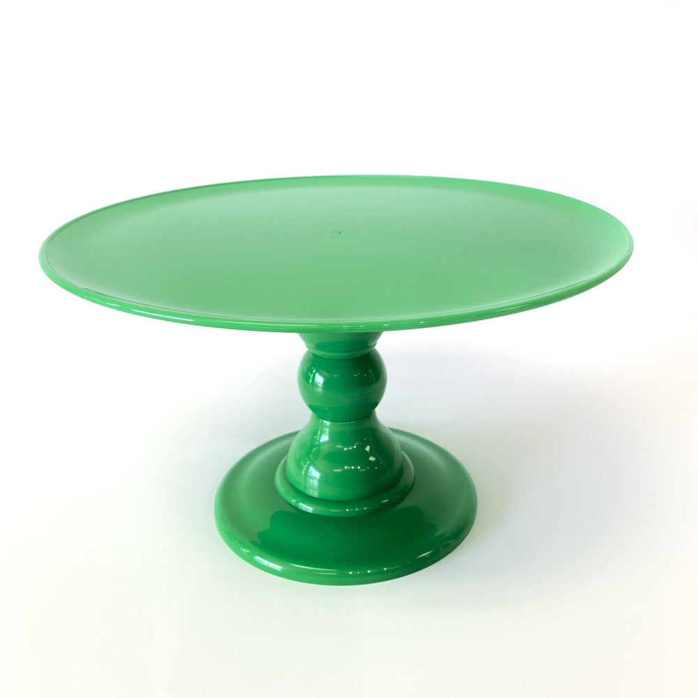 "Lime Green 12"" Round Plate  Cake Stand (180/320) - FOR RENT"