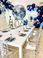 White kids table for up to 12 kids- For Rent