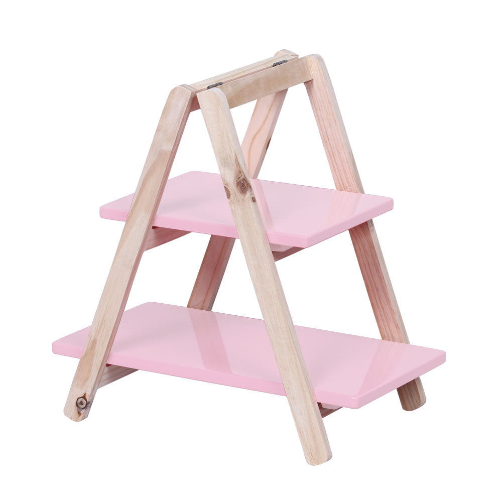 2-Tier Light Pink Cupcake Display Ladder - For Rent